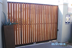 Balau Horizontal Slat - Black Frame-Durban North-9