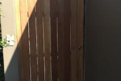 Wooden pedestrian gate-Balau wooden pedestrian gate-4