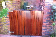 Wooden pedestrian gate-Balau wooden pedestrian gate-7