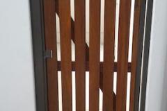 Wooden pedestrian gate-Balau wooden pedestrian gate-9