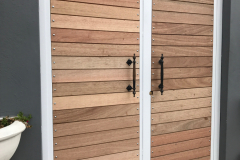 Double wooden gate-french door gate-10