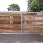 Balau Wooden Swing Gate Installation
