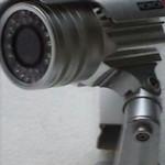 CCTV Camera Mounted On A Wall