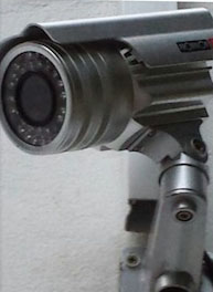 CCTV Camera Mounted On A Wall