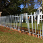 Galvanised Steel Palisade Fencing Around A Property