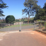 Palisade Sliding Gate, Motor And Fencing Installation