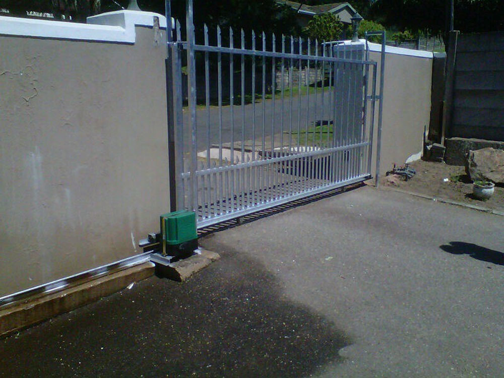 Steel sliding gates master gates durban for Electric gate motor installation