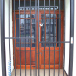 Black Double Swing Pedestrian Gate