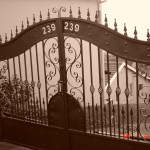 Black Steel Electric Swing Gates With Customised Design