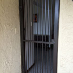 Brown Steel Pedestrian Gate