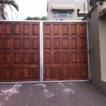 Double Wooden Swing Gate Installation With Paneling