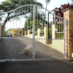 Electric Steel Swing Gates With An Arch