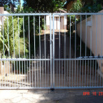 Steel Electric Swing Gates With Spikes