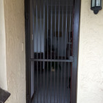Steel Pedestrian Gate With A Black Frame
