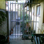 Steel Pedestrian Gate With A Side Panel