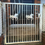 Steel Pedestrian Swing Gate With Customised Horse Design