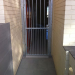 Steel Pedestrian Swing Gate With Steel Frame