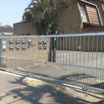 Steel Sliding Driveway Gate In A Complex