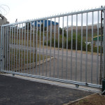 Steel Sliding Gate Installation