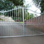 Steel Swing Gates With Customised Design And An Arch