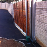 Wooden Sliding Gate And Motor Installation