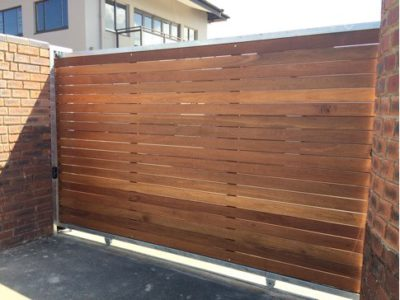 Balau Wooden Sliding Gate
