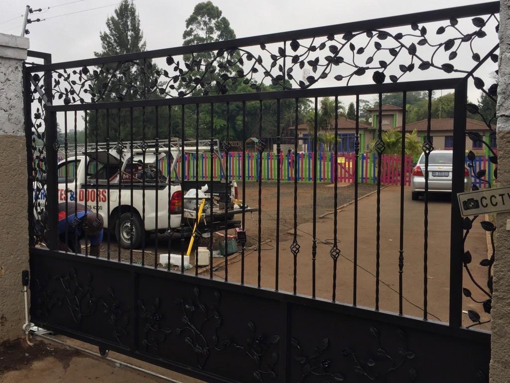 Wrought Iron Sliding Gate Installation Master Gates Durban