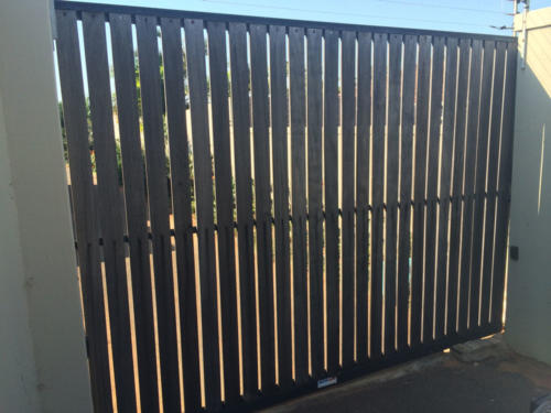 Wooden Sliding Gate Installation