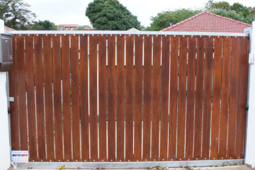 Wooden Sliding Gate Installation
