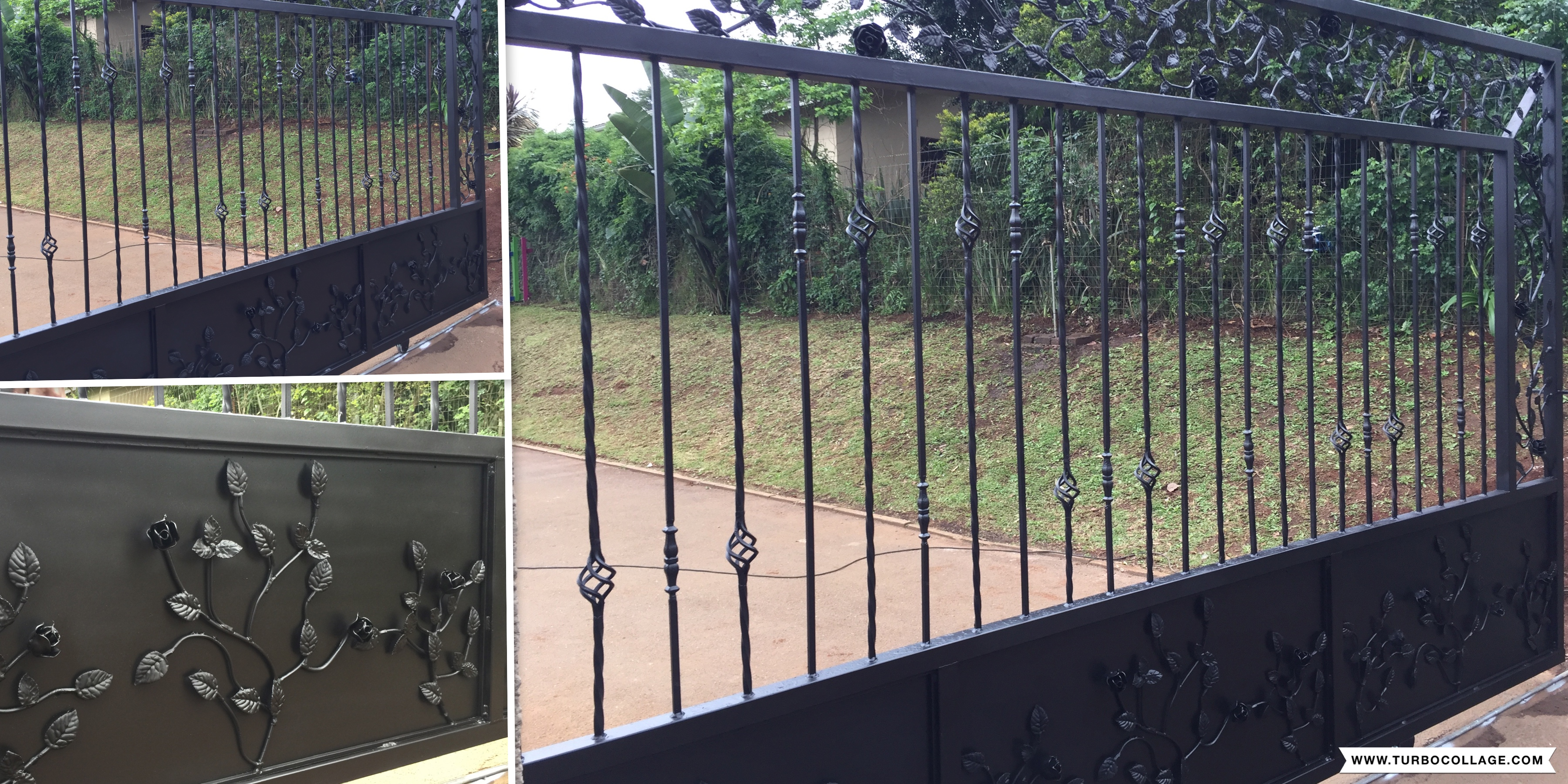 Sliding gates, Driveway gates, solid gates, wooden gates, balau wooden gates, garage doors, Aluzinc garage door